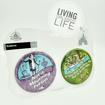 NEW - Disney Parks Haunted Mansion and Jungle Cruise Button Set