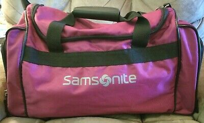 Samsonite Soft Side Luggage Carry On Overnight Travel Bag Strap Duffel