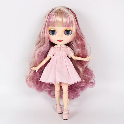 "12/"" Neo Blythe Doll Custom Matte Face Nude Doll from Factory JSW64002+Gift"