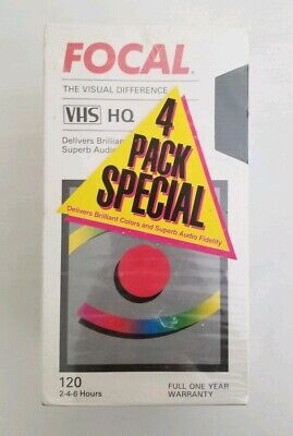 Focal Blank VHS Tapes Sealed Pack of 4