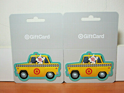 """2 Pcs Hard To Find TARGET """"Yellow Cab Taxi"""" Gift Cards"""