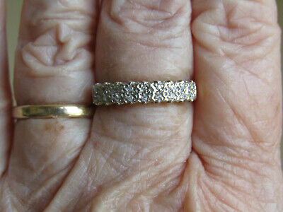 Yellow 9ct Gold and 18 Diamond ring size 6