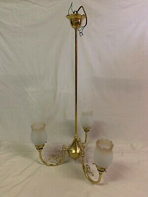 Antique Victorian Style Brass Ceiling Light Fitting