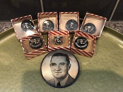 LOT of 8 Chicago Political Ben Adamowski Republican Elephant Pins Mayor v Daley