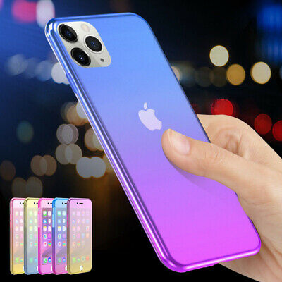 360° Shockproof Gradient Soft Case Cover For iPhone 11 Pro MAX XS XR X 8 7 6s 6