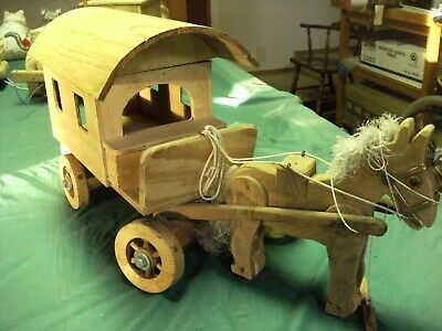 Wooden Pull - along Horse drawn Gypsy Caravan