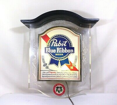 Vintage Pabst Blue Ribbon Beer Advertising Bar Light Sign...