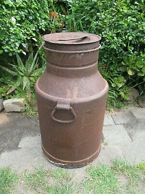 Metal milk tin can garden urn pot planter statue stand tub