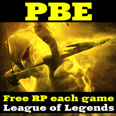 League of Legends PBE Account EUW All Champs LoL FREE BE RP Unranked Level 30