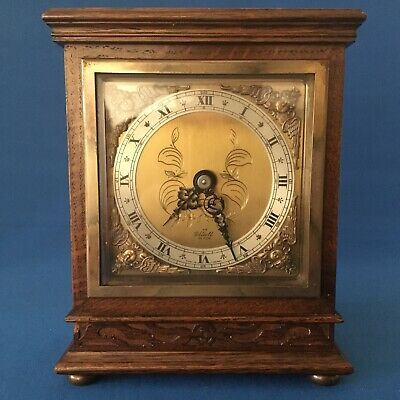 Elliot windup oak cased mantel clock in excellent condition made in England #2