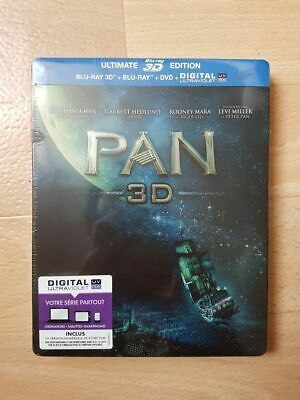 Pan SteelBook Ultimate Édition Blu-ray 3D + Blu-ray + DVD + Copie digitale neuf.