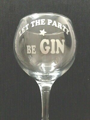 6 x Let the Party Be GIN, Wine Glass inc Rose Gold & Chrome Vinyl  Decals