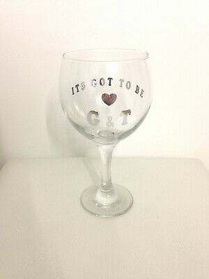 6 x ITS GOT TO BE G & T Wine Glass Decals  16 colours to choose from