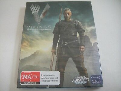 Vikings: Complete Second Season Two 2 - Sanity Slipcover Blu-Ray   New   Rare