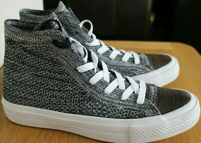 Converse All Star Chuck Taylor Hi Top Flyknit Grey Unisex Trainers Size 5