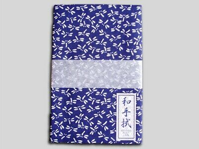 Tenugui, Japanese Cotton Towel, Dragonfly Navy, Made in Japan!