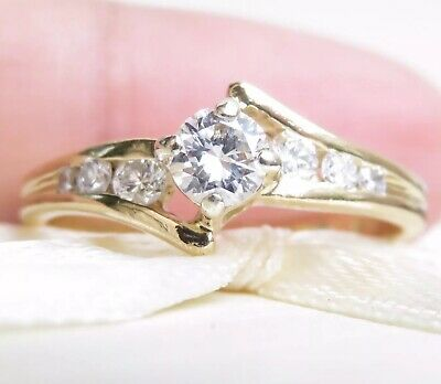 Valuation$2530 Genuine 0.41ct Diamond Ring In 18K Yellow Gold