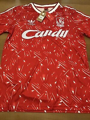 Liverpool Fc 1989/90 Retro Candy home Shirt! Size large NWT
