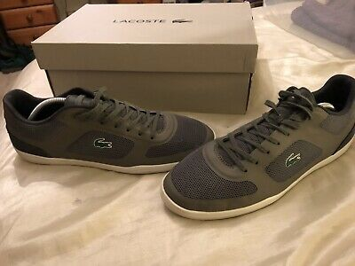 NEW BOXED MEN/'S BLACK LACOSTE COMBA TRAINERS SHOES SIZE 7 £44.95 /& FREE POST