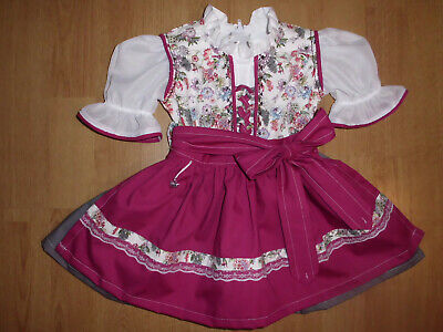 "NEU  Kinder Dirndl  gr. 62/68    ""MADE WITH LOVE"""
