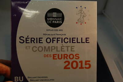 Francia Officiale Set Monete 2015 1 Cent fino 2 Fior di Conio