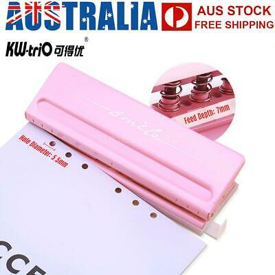 Adjustable 6-Hole Desktop Punch Puncher for A4 A5 A6 B7 Dairy Planner O1Q3