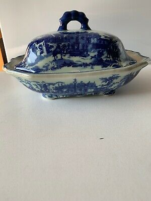 Chinese Style Tureen Dish 11 Inch Long By 7 Inch Wide