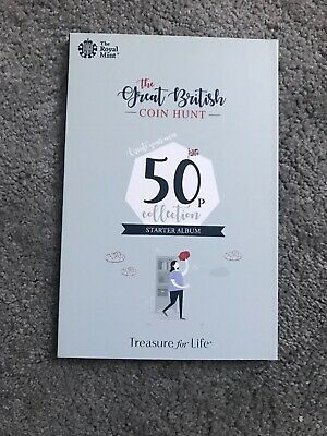 Royal Mint The Great British Coin Hunt 50p Starter Collector Album Folder - NEW.