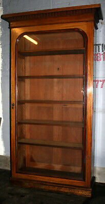 Impressive large Mahogany Library bookcase display cabinet 1870 alcove