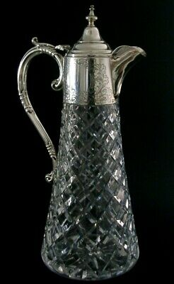 Stunning English Sterling Silver Claret Wine Decanter Jug 1972