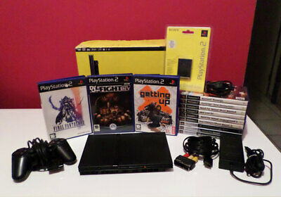 Lot PS2 Slim SCPH-70004 + Memory Card 8Mo + 12 Jeux