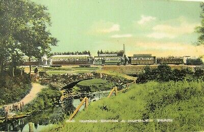 1906 Postcard, Old Roman Bridge and Mumbles Train (N71975)