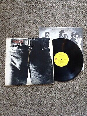 The Rolling Stones - Sticky Fingers Orig Lp Working Zipper Andy Warhol Cover