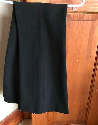 Girls School Black Trousers Size 8 Used Good Condition 2X