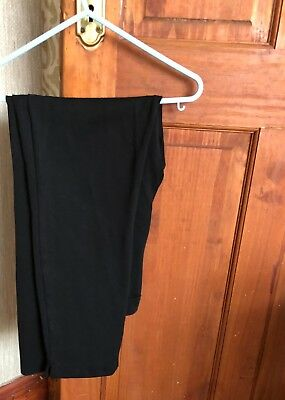 Girls School Black Trousers x2 Size 12 Used Good Condition