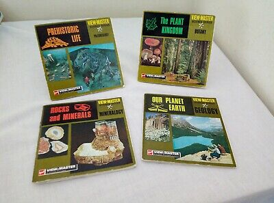 VIEWMASTER SCIENCE SERIES REELS 1969 Paleontology, Botany, Mineralogy, Geology