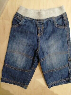 Next baby boys blue jeans elasticated pull on waist 3-6 months 8kg