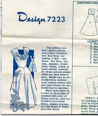 Womens Sundress Sewing Pattern Mail Oder Designs 7223 Size 18 1/2