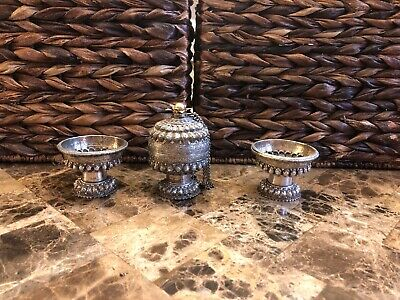 Cambodian/Khmer Silver Offering Containers