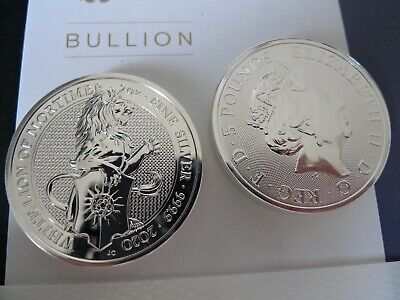 TWO x NEW 2020 Queen's Beasts The White Lion 2 oz Silver bullion Coins