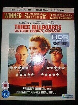 Three billboards Outside Ebbing, Missouri 4k Blu Ray