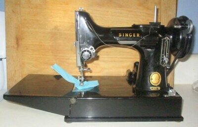 Vintage 1956 Singer 221 Featherweight Sewing Machine With Case-Serviced & Tested