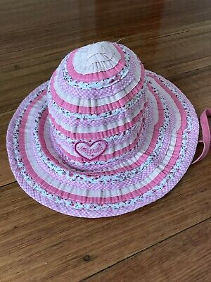 Millymook Girls Pink Sweetheart sunhat hat 2-5 years 51cm