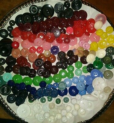 235 Colorful Vintage Early Plastic House Buttons