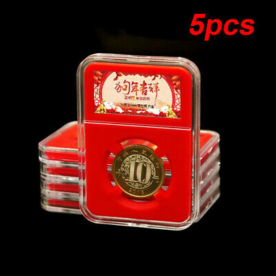 5pcs Collection Box 8.5x6cm Coin Holder Organizer Protection Accessories