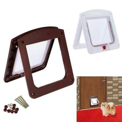 Lockable Dog Cat Flap Door Kitten Puppy Pet Easy Install PP Security Gate Lock