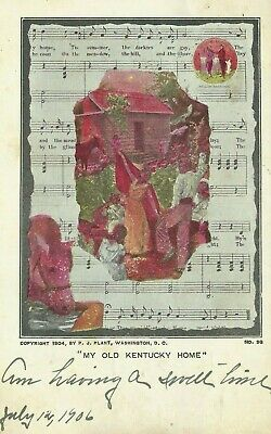 1904 My Old Kentucky Home Sheet Music PJ Plant Postcard Gooch Clarkeville VA