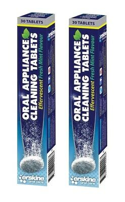 Erskine Oral Care Appliance Effervescent Cleaning Tablets - 30 Tablet Tubes