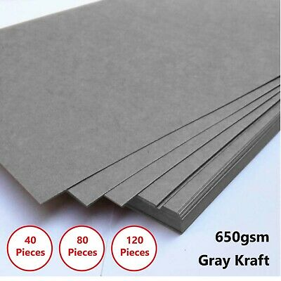 A4 Gray 650gsm Cardboard Chipboard Boxboard 1mm Recycled Card Packaging