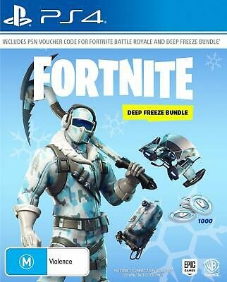Fortnite Deep Freeze Bundle PlayStation 4 PS4 GAME BRAND NEW SEALED FREE POSTAGE